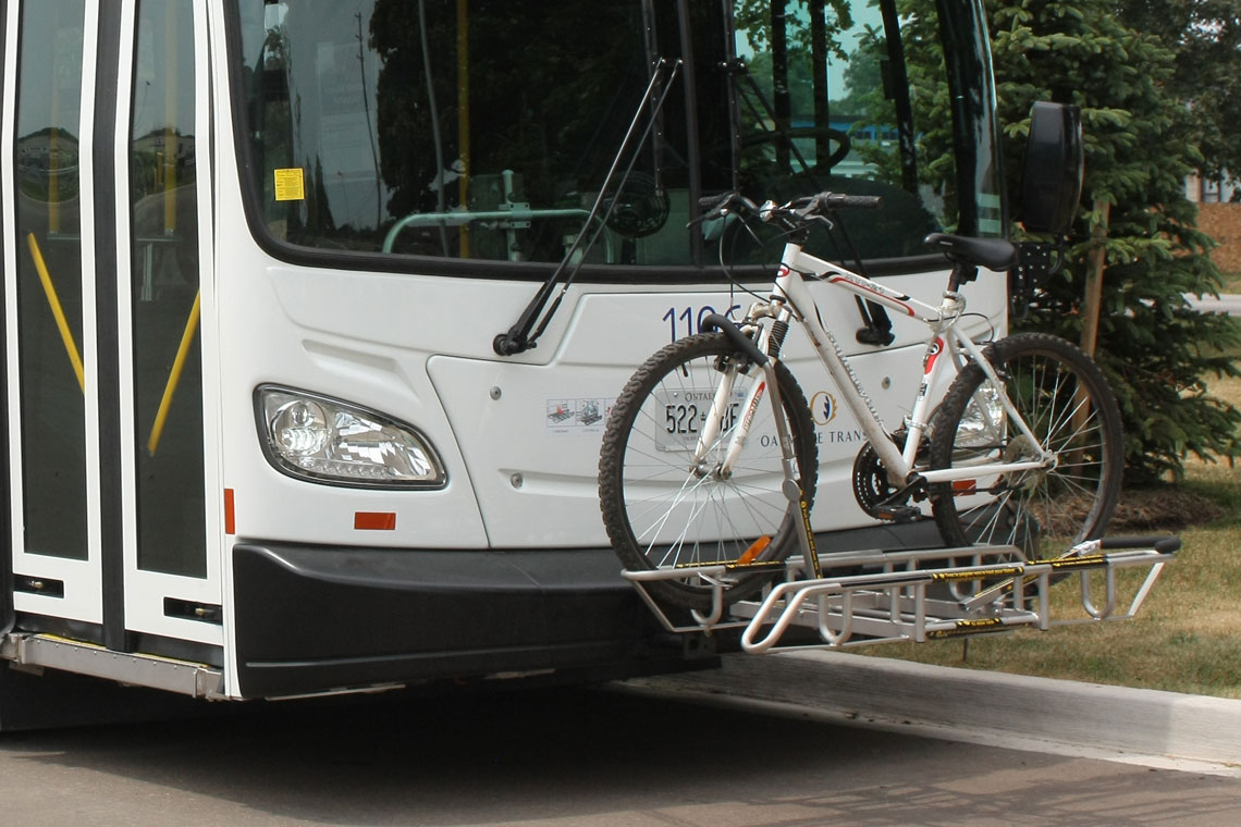 Bike racks on buses