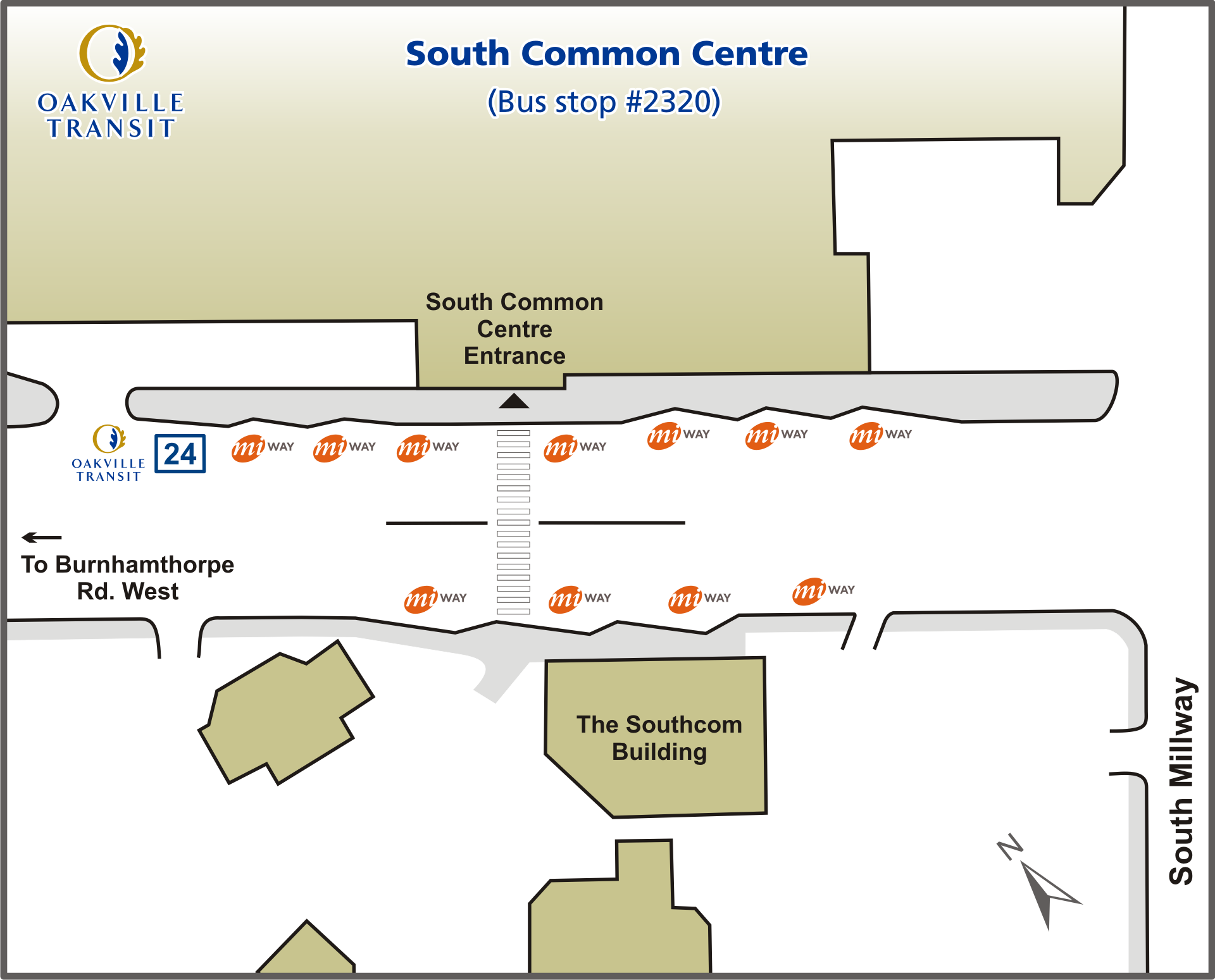 South Common Centre Terminal map