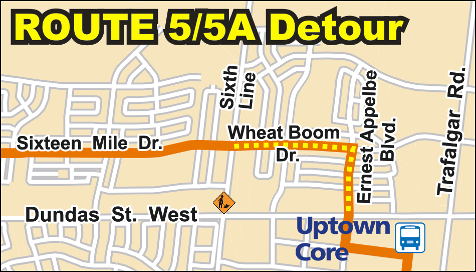 Route 5/5A detour map